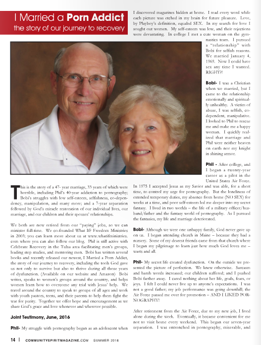Community Spirit Magazine Featured Article
